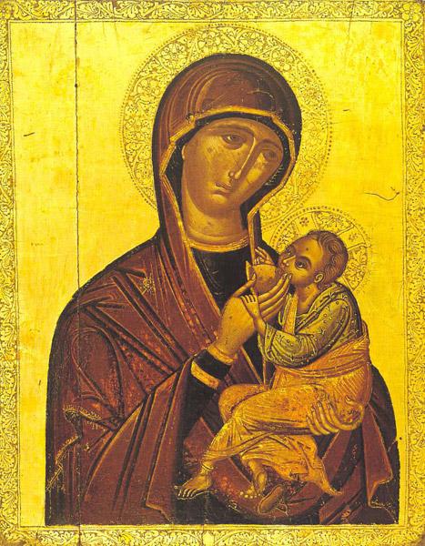 Богородица Млекопитательница, Греция (острова), XVI в