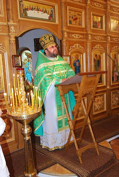 Троица 2009 г.: Проповедь  настоятеля Храма о.Александра.