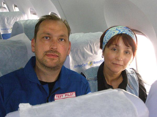 Впервые супруги вместе рабочем полёте