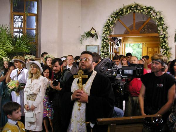 Молебен перед началом съемок