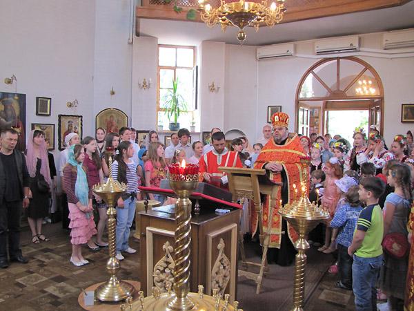 Благодарственный молебен,по поводу окончания занятий в воскресной школе