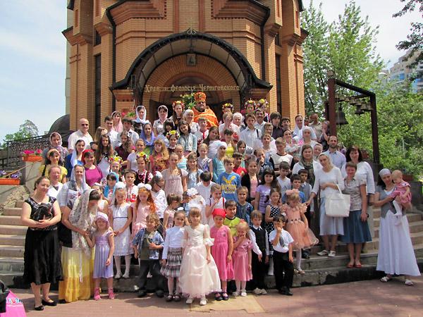 Дети воскресной школы с родителями