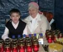 Мария Александровна и Ваня Янауэр в ожидании Благодатного Огня.