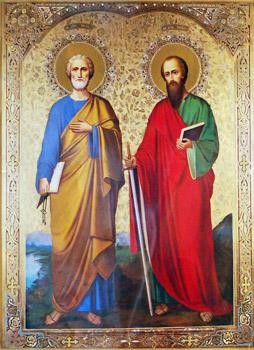 Петр и Павел: пути верного ученика и ...: www.hram-feodosy.kiev.ua/iconostas_31.htm